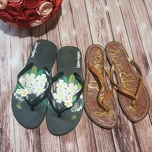 Bundle of Size 6 Sandals Sam Edelman & Island Girl